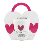 Caneca I Love You 350ml de Porcelana