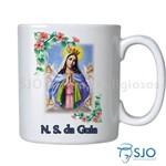 Caneca Nossa Senhora da Guia com Oração | SJO Artigos Religiosos