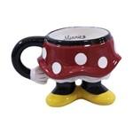 Caneca Porcelana Corpo Minnie - Disney