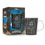 Caneca Porcelana Premium Menu Coffee 280ml Presente Café