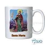 Caneca Santa Marta com Oração | SJO Artigos Religiosos