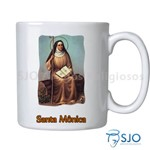 Caneca Santa Mônica com Oração | SJO Artigos Religiosos
