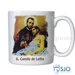 Caneca São Camilo de Lellis com Oração | SJO Artigos Religiosos