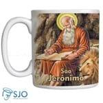 Caneca São Jerônimo com Oração | SJO Artigos Religiosos