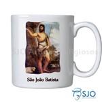 Caneca São João Batista com Oração | SJO Artigos Religiosos