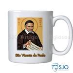 Caneca São Vicente de Paulo com Oração | SJO Artigos Religiosos