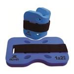 Caneleira Hidroginástica - 1kg a 2kg - Azul - Muvin Cnh-100