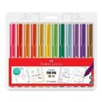 Caneta Fine Pen Colors com 12 Unidades