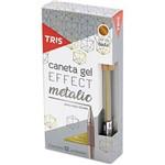 Caneta Gel Tris Effect Metalic Ouro 1,0mm com 12 Unidades