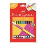 Caneta Hidrocor Faber Castell Bicolor 024 Cores 15.0612p