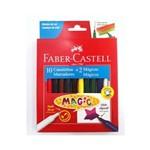 Caneta Hidrográfica 10 Cores Magic Faber-castell
