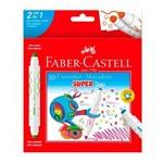 Caneta Hidrográfica 10 Cores Super Duo Faber Castell