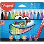 Caneta Hidrográfica Maped Color Peps Maxi 12 Cores Un