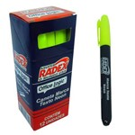 Caneta Marca Texto Radex Office Logic Amarela - 12 Unidades