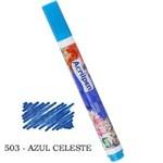 Caneta Marcador Ptecido Acrilpen 503 Azul Celeste