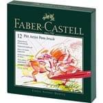 Caneta Pincel Pitt Estojo com 12 Cores Gift Box Ref.167146 Faber-castell
