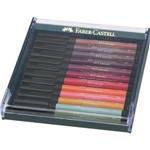 Caneta Pincel Pitt Estojo com 12 Tons de Outono Ref.267422 Faber-Castell