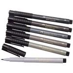 Caneta Pincel Pitt Estojo com 6 Cores Shades Of Grey Ref.167104 Faber-Castell