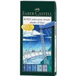 Caneta Pincel Pitt Estojo com 6 Tons Celeste Ref.167164 Faber-Castell