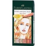 Caneta Pincel Pitt Estojo com 6 Tons de Pele Ref.167162 Faber-castell