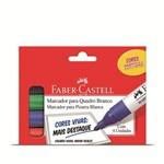 Caneta Quadro Branco Faber Castell Estojo 004 Cores Of/522zf