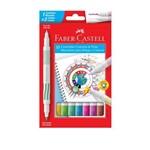 Canetinha Hidrográfica 10 Cores Contorna e Pinta Faber Castell