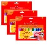 Canetinhas Hidrográficas Jumbo 12 Cores Pct 3 Un. Faber Castell