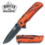 Canivete Master Usa com Abertura Assistida Talas em Fibra de Nylon Orange Camo Master Cutlery