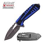 Canivete Mtech Usa Xtreme Stonewashed com Abertura Assistida Azul Master Cutlery