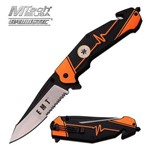 Canivete Socorrista Laranja com Cortador de Cinto Master Cutlery
