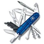 Canivete Victorinox Cybertool 34F Azul Translúcido 1.7725.T2