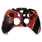 Capa Case de Silicone Controle Xbox One Vermelho Preto e Branco