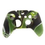 Capa Case Protetora de Silicone Gel para Controle Xbox One Camuflada Verde Preto e Branco Feir Fr-314-1m