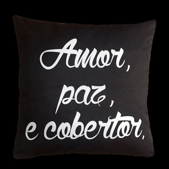 Capa de Almofada Amor e Cobertor 45x45 Cm