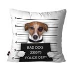Capa de Almofada Avulsa Branco Bad Dog