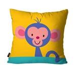 Capa de Almofada Avulsa Infantil Amarelo Macaco