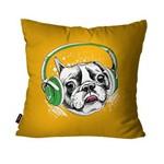 Capa de Almofada Avulsa Laranja Dog Fones