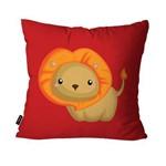 Capa de Almofada Avulsa Vermelho Leão