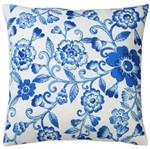 Capa de Almofada Azul 45x45cm Blue Flowers Urban