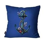 Capa de Almofada Decorativa Avulsa Azul Âncora
