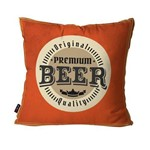 Capa de Almofada Decorativa Avulsa Laranja Premium Beer