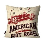 Capa de Almofada Decorativa Avulsa Off White American Hot Rods