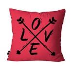 Capa de Almofada Decorativa Avulsa Pink Flechas Love