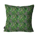 Capa de Almofada Decorativa Avulsa Verde Folhas Geométrico