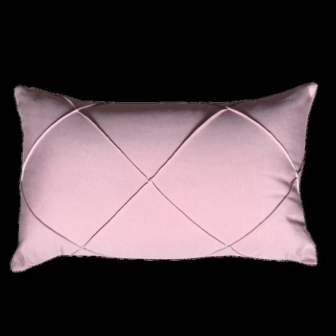 Capa de Almofada Detalhada Rosa Claro 30X45 Cm