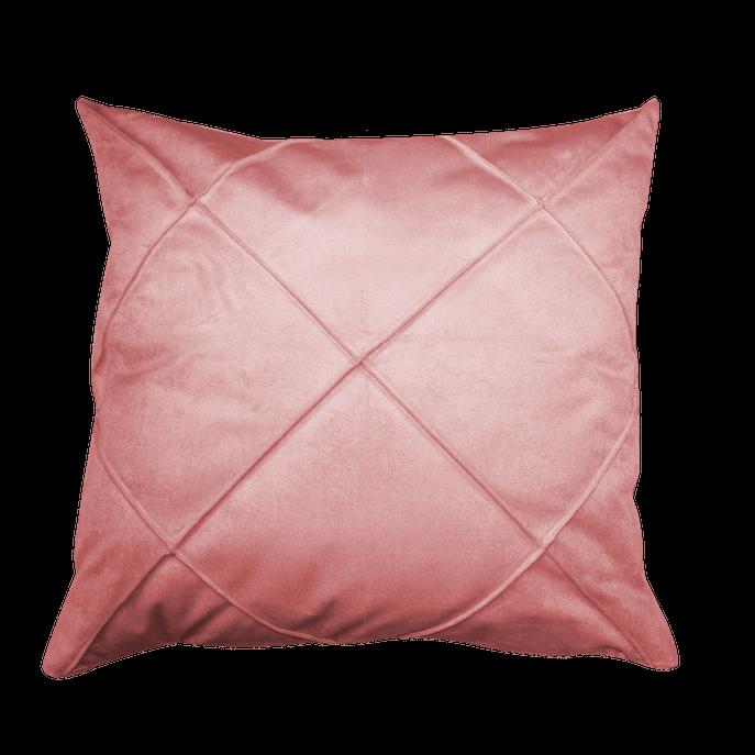 Capa de Almofada Drapeada Rosa 50x50 Cm