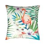 Capa de Almofada em Poliéster - Flamingo Colorido