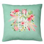 Capa de Almofada em Poliéster - Summer Flowers Colorido
