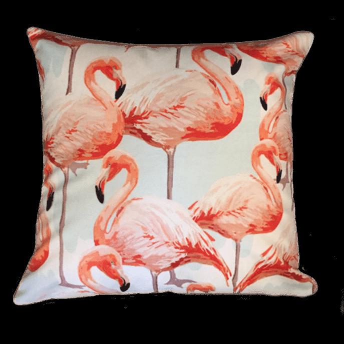 Capa de Almofada Flamingo Nas Nuvens 45x45 Cm