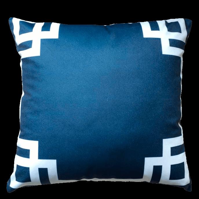 Capa de Almofada Geométrica Azul 45x45 Cm